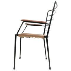 Vintage Robert Heal Ladderax Midcentury Metal Armchair