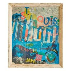Vintage Robert Rauschenberg Exhibition Poster in Antique Frame, France, 1968