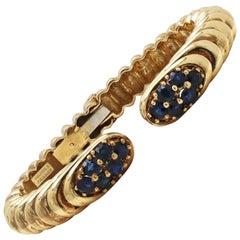 Vintage Robert Wander Yellow Gold Sapphire Bracelet