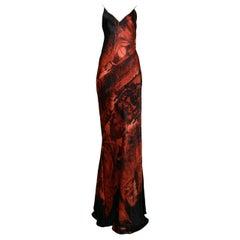 Vintage Roberto Cavalli Black & Red Slip Evening Dress