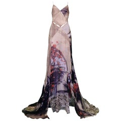 Vintage Roberto Cavalli SS 2004 Cutout Evening Gown