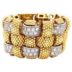 Vintage Roberto Coin Appassionata Diamond 18 Karat Gold Ring