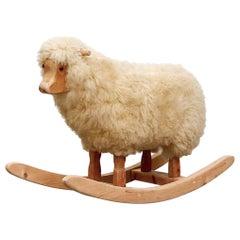 Vintage Rocking Sheep by Hans-Peter Krafft for Meier, Germany