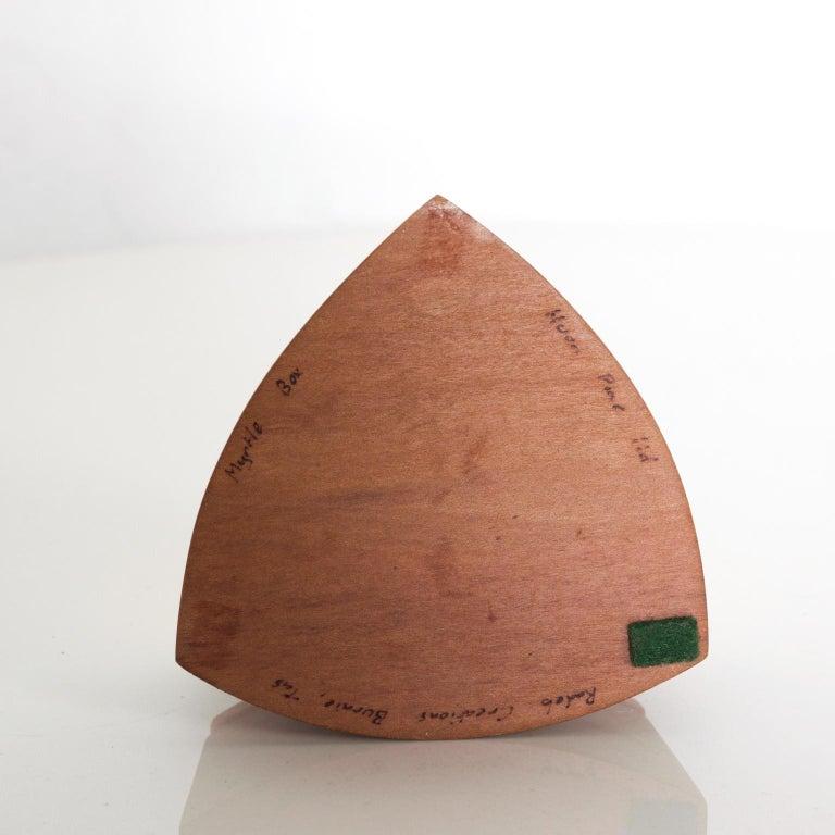 Vintage RODEO CREATIONS 2 Tone Modern Huon Wood Box Jewelry, Keepsake Box For Sale 3
