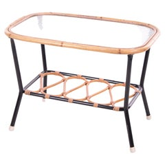 Vintage Rohe Noordwolde Bamboo Coffee Table, 1950s