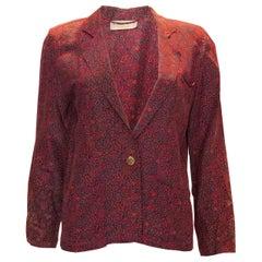 Vintage Rolan Klein Paisley Print Jacket