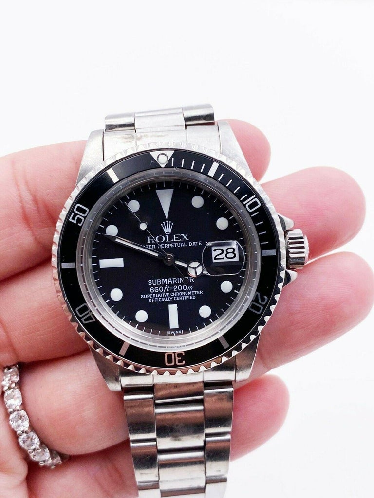 Vintage Rolex 1680 Submariner Black Dial Stainless Steel, 1978 For Sale 3