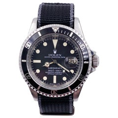 Vintage Rolex 1680 Submariner Black Dial Stainless Steel 1978