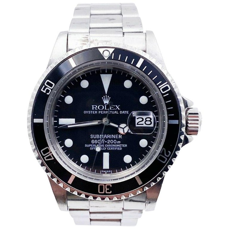 Vintage Rolex 1680 Submariner Black Dial Stainless Steel, 1978 For Sale