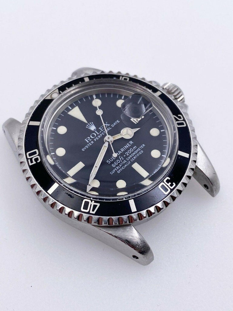 Vintage Rolex 1680 Submariner Black Dial Stainless Steel Head Only, 1978 In Excellent Condition For Sale In San Diego, CA