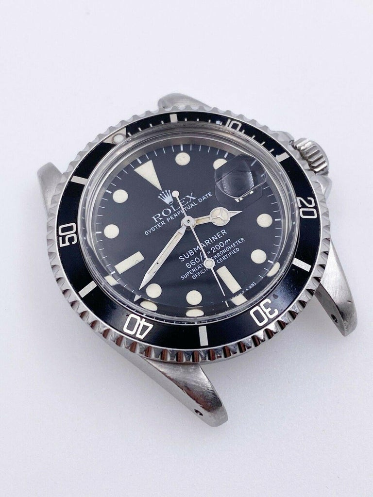 Men's Vintage Rolex 1680 Submariner Black Dial Stainless Steel Head Only, 1978 For Sale