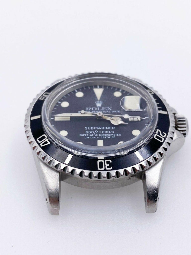 Vintage Rolex 1680 Submariner Black Dial Stainless Steel Head Only, 1978 For Sale 1