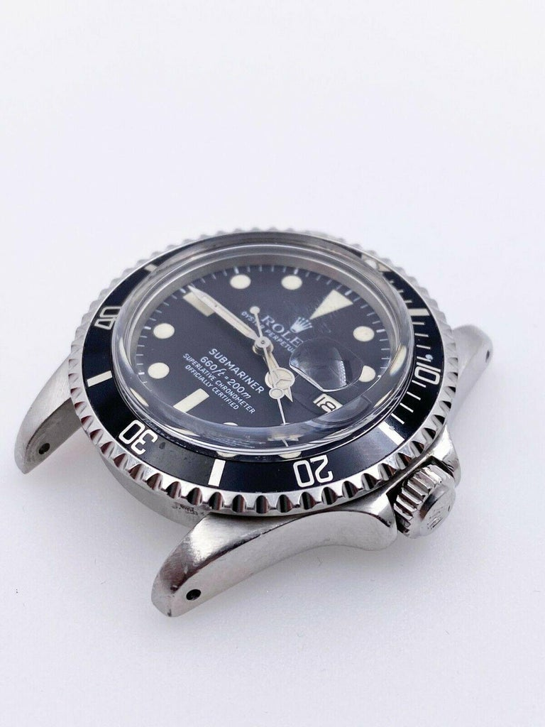 Vintage Rolex 1680 Submariner Black Dial Stainless Steel Head Only, 1978 For Sale 2