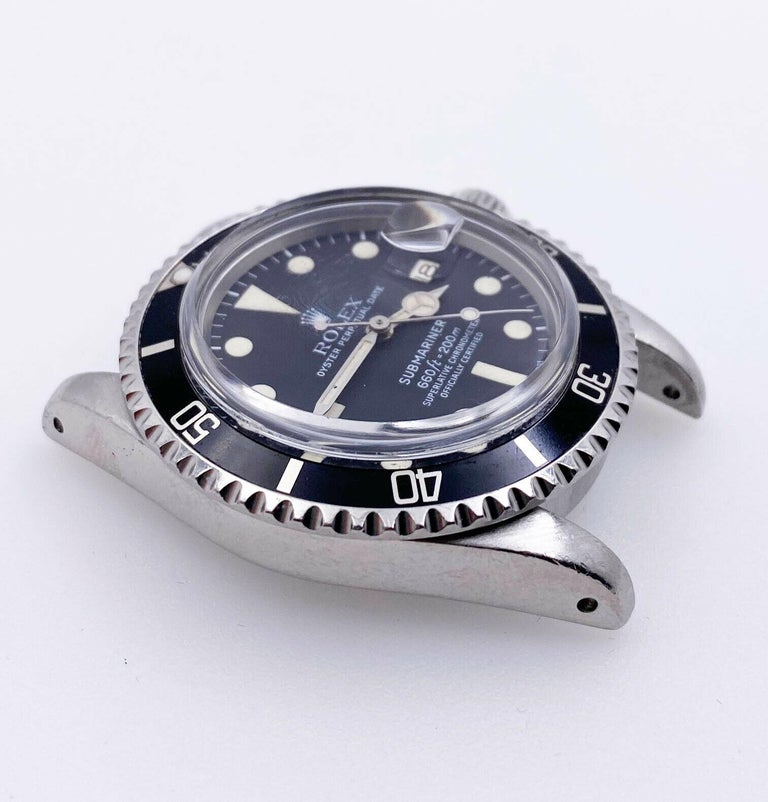 Vintage Rolex 1680 Submariner Black Dial Stainless Steel Head Only, 1978 For Sale 3