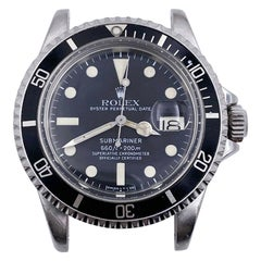 Vintage Rolex 1680 Submariner Black Dial Stainless Steel Head Only, 1978