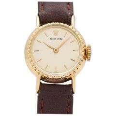 Vintage Rolex 18 Karat Yellow Gold Ladies Watch, 1960s-1970s