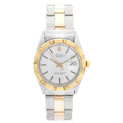 Vintage Rolex 18 Karat Yellow Gold Thunderbird Turnograph Men's Watch 1625