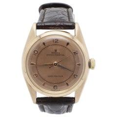 Vintage Rolex 4392 Oyster Perpetual Super Precision 14 Karat Rose Gold