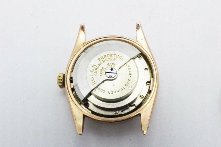 Women's or Men's Vintage Rolex 4392 Oyster Perpetual Super Precision 14 Karat Rose Gold For Sale