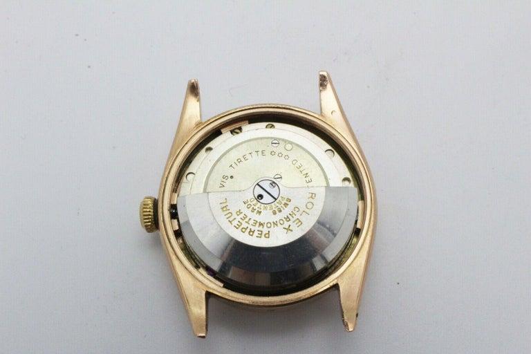 Vintage Rolex 4392 Oyster Perpetual Super Precision 14 Karat Rose Gold For Sale 3
