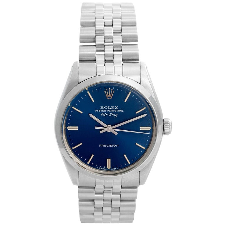 Vintage Rolex Air-King Men's Stainless Steel Oyster Perpetual Watch 5500 For Sale