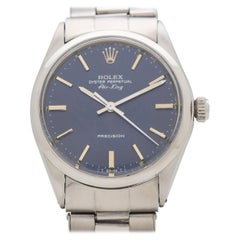 Vintage Rolex Air-King Reference 5500 with a Blue Dial, 1967