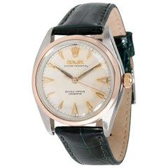 Vintage Rolex Bubbleback 6084 Men's Watch in 14 Karat Stainless Steel/Rose Gold