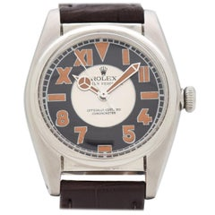 Vintage Rolex Bubbleback Reference 5050 Stainless Steel Watch, 1949