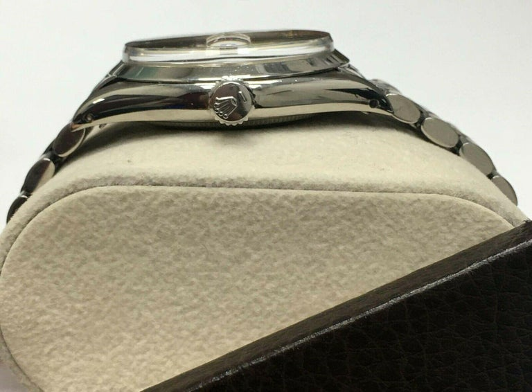 Vintage Rolex Date 1500 Original Silver Dial Stainless Steel Box Papers For Sale 1