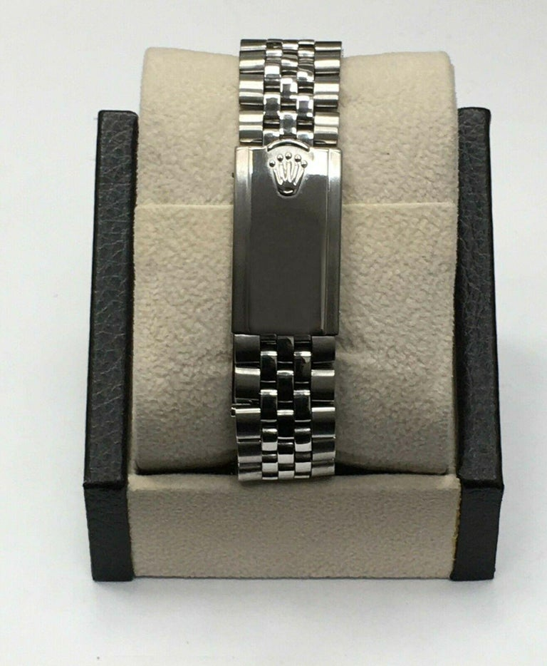 Vintage Rolex Date 1500 Original Silver Dial Stainless Steel Box Papers For Sale 2