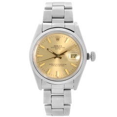 Vintage Rolex Date Stainless Steel Champagne Dial Automatic Men Watch 1500