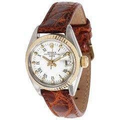 Vintage Rolex Date 6917 Women's Watch in 14 Karat Yellow Gold/Steel