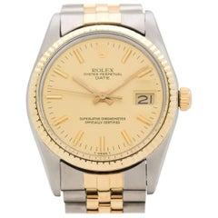 Vintage Rolex Date Automatic Reference 15000 Two-Tone Watch, 1981