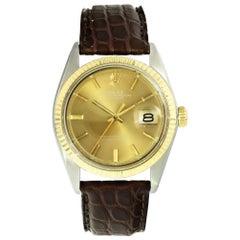 Vintage Rolex Datejust 1601 Two-Tone Men's Watch