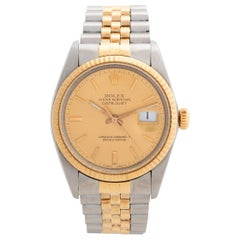 Vintage Rolex Datejust, Ref 16013, Complete Set, with Champagne Dial