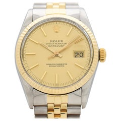 Vintage Rolex Datejust Reference 16013 Two-Tone Watch, 1981