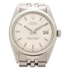 Vintage Rolex Datejust Wide Boy 14 Karat Gold and Stainless Steel Watch, 1972