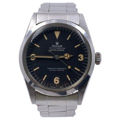 Vintage Rolex Explorer 1016 Black Dial Stainless Steel Box Papers 1969 Complete