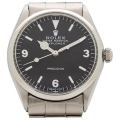 Vintage Rolex Explorer Reference 5500 Stainless Steel Watch, 1967