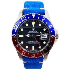 Vintage Rolex GMT Master 1675 Pepsi Red and Blue Stainless Steel, 1960