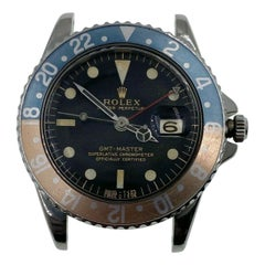 Vintage Rolex GMT Master Ghost Pepsi 1675 Gilt Gloss Dial Pointed Crown Guards