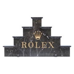 Vintage Rolex Grey Marble Watch Display, 1970