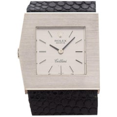 Vintage Rolex King Midas Cellini Reference 40170-10 in 18 Karat White Gold 1970s