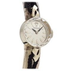 Vintage Rolex Ladies 14 Karat White Gold Watch, 1960s