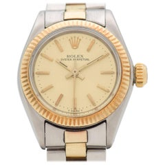 Vintage Rolex Ladies Oyster Perpetual Two-Tone Watch, 1977