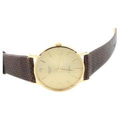 Vintage Rolex Men's 18K Yellow Gold Hand Winding Watch