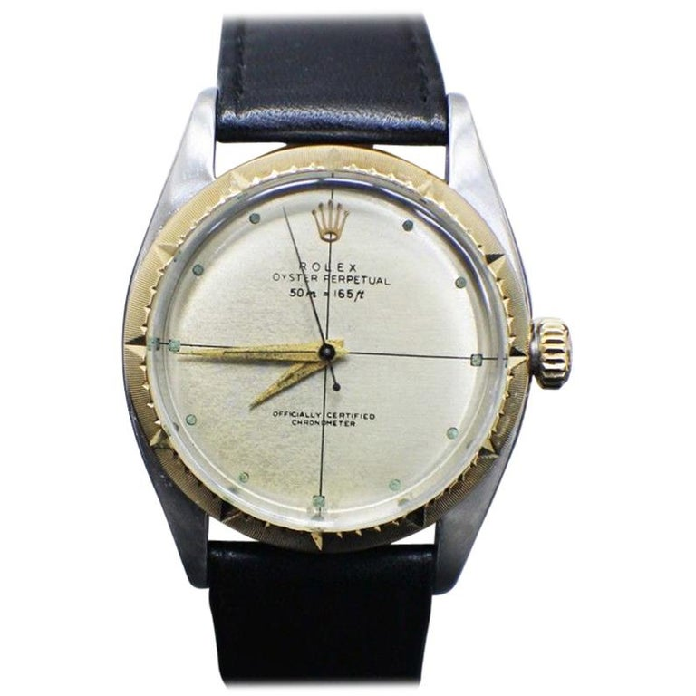 Vintage Rolex Oyster Perpetual 6582 14 Karat Yellow Gold Zephyr Dial For  Sale ce696c955b73