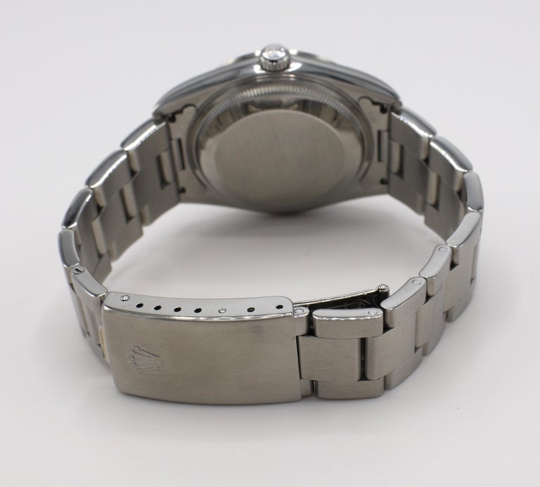 Vintage Rolex Oyster Perpetual Date Steel Watch Model 15200 Box & Papers For Sale 4
