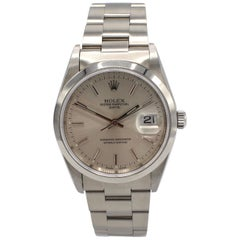 Vintage Rolex Oyster Perpetual Date Steel Watch Model 15200 Box & Papers