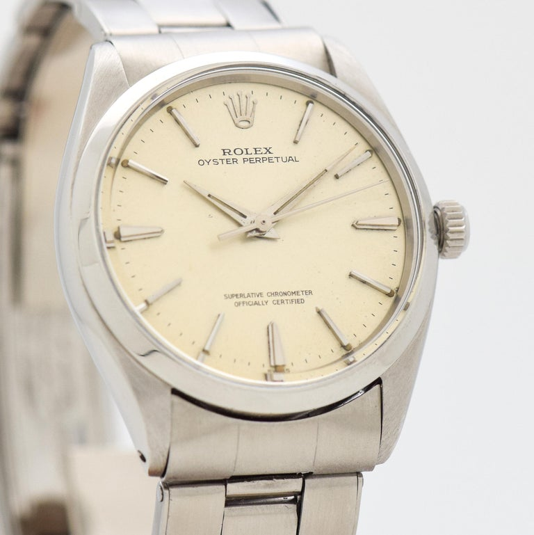 Vintage Rolex Oyster Perpetual Reference 1002 Stainless Steel Watch 1963